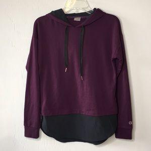 Calia Effortless Mixed Media Hoodie Purple XS